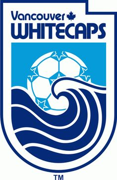 NASL Vancouver Whitecaps Primary Logo (1979) - Wave with soccer ball on a shield with script