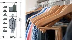Quelles dimensions pour votre dressing ou placard ?