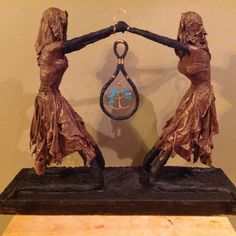 Sculpture Ideas, Sculptures, African Crafts, Piece Of Me, Wire Art, Natural Materials, Fabric, Artwork, Projects