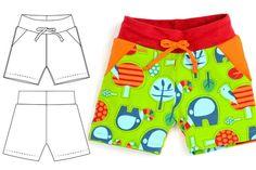 Knit shorts sewing pattern pdf - Brindille & Twig