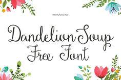 DLOLLEYS HELP: Dandelion Soup Free Font