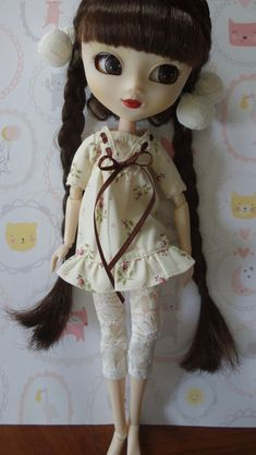 92# Pullip Doll Pink Handmade Blythe Black Lolita Dress For Takara cute BB