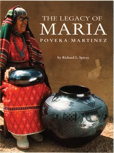 """Maria, the potter of San Ildefonso (1887–1981), is not only the most famous of Pueblo Indian potters but ranks among the best of international potters. Her work Is collected and exhibited around the world, and more than any other artist, Maria Martinez brought """"signatures"""" to Indian art. She and other members of her family revived a dying art form and kindled a renaissance in pottery for all the Pueblos. She raised this regional art to one of international acclaim."""
