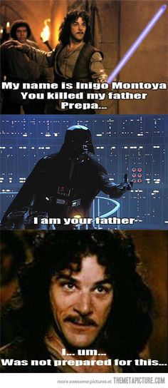 I was not prepared for this… #princessbride #starwars