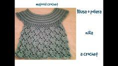Blusa o polera niña a crochet parte 1ª