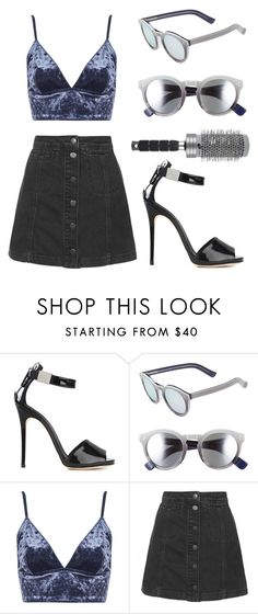"""""""Cool Winter in LA"""" by mode-222 ❤ liked on Polyvore featuring Giuseppe Zanotti, Illesteva, Topshop and T3"""