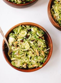 Honey mustard brussels sprout slaw - cookieandkate.com