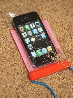 Genius and only $13!  Perfect for trips to the beach. Smartphone Weather Proof Bags.