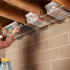Garage storage spaces and organizing tips - declutter and organize the garage wi. Garage storage spaces and organizing tips – declutter and organize the garage with these useful l Diy Garage Storage, Basement Storage, Attic Storage, Storage Hacks, Shed Storage, Organization Hacks, Organizing Tips, Storage Solutions, Small Garage Organization