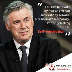 You can motivate by fear or you can motivate by reward, but, both are temporary. The only lasting thing is Self-motivation. Free Soccer Coaching Awareness Ebook: http://coachestrainingroom.com/ebook  #coachestrainingroom #ayso #youthsoccer #coachingsoccer #soccerdrill #soccerdrills #soccercoaches #nikesoccer #nscaa #youthcoach #kidssoccer #ussoccer #uswnt #usmnt #barclays #soccertraining #soccerplan #soccerplans #soccersession #soccersessions #coachinglife