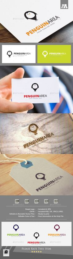 Penguin Area Logo Template — Photoshop PSD #web #unique • Available here → https://graphicriver.net/item/penguin-area-logo-template/12816342?ref=pxcr