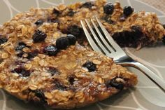 Microwave Blueberry Banana Oat Cake.  Ready in less than 5 mins, vegan, GF, and a portable snack.