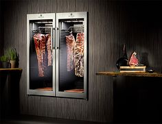 The Dry Ager Fridge Gives You Gourmet-Quality Aged Meats At Home Meat Restaurant, Restaurant Concept, Restaurant Design, Butcher Store, Meat Butcher, Commercial Kitchen, Commercial Design, Carnicerias Ideas, Zona Colonial
