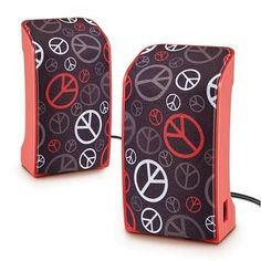 Peace Sign USB Speakers