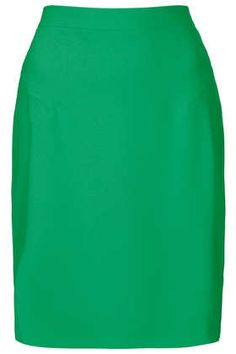 Green Crepe Pencil Skirt - Skirts  - Clothing