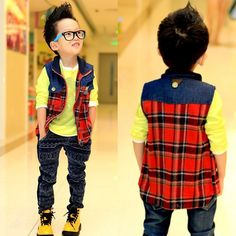 love the plaid vest!