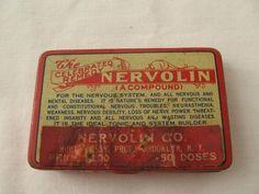 Antique 1906 Nervolin Insanity Cure Medicine Tin Quack Medicine Pill Box Drug | eBay