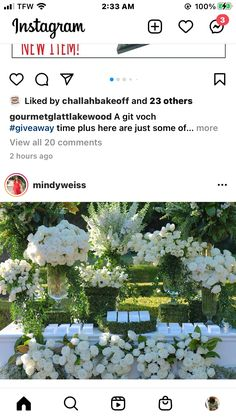White Floral Centerpieces, New Instagram, White Flower Centerpieces