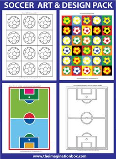 40 page art and design soccer activity resource pack
