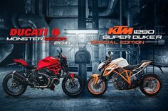 KTM 1290 Super Duke R VS Ducati Monster 1200R Super Naked Bike