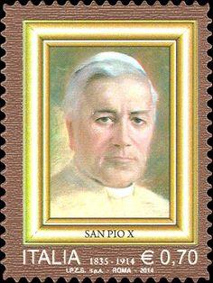 2014 -  Centenario della morte di San Pio X  - Ritratto di San Pio X