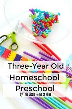 Three-Year Old Homeschool Preschool