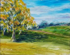 Sycamore, 8x10 oil by Annie Strack $195