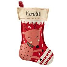 Holly Jolly Stocking (Deer) in New Holiday Décor   The Land of Nod