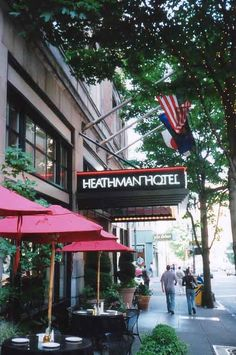 Heathman Hotel, Portland, Oregon  Stayed there in 2002 when I was interviewing for position at OHSU; since have eaten there many times.