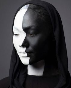 black n white makeup - Google Search
