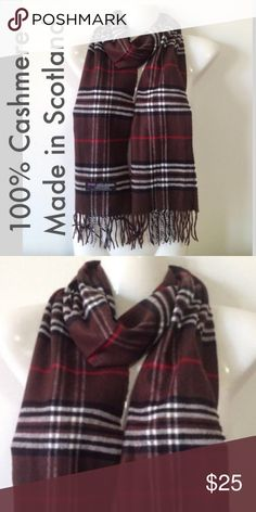 100% Cashmere Unisex Scarf Made in Scotland Description 100% Cashmere scarf. 12inx72in long scarf. Super soft and warm. Price Firm.  Unisex Style.   100% cashmere  MADE IN SCOTLAND. Final price. Bundles always 20% off. ❣photos color true. Retails for $75.00‼️‼️ Cashmere Scarves Accessories Scarves & Wraps