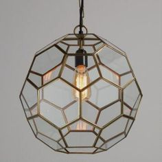 foyer - Faceted Glass Paxton Pendant