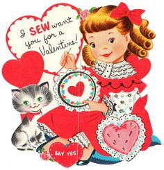 Vintage Valentine's Day card-- Happy Valentines Day 2014 everyone!!