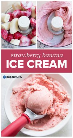 4-ingredients = one healthy treat! Try our our Strawberry Banana Ice Cream tonight — a perfect snack or healthy dessert you can eat anytime! | Popculture.com