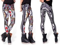 Queen of Hearts Leggings! Play your cards right and look great in these leggings! Floral Leggings, Printed Leggings, Colorful Leggings, Latest Fashion For Women, New Fashion, Fashion Outfits, Womens Fashion, Casual Outfits, Leggings Store