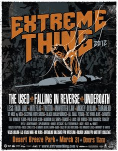 Extreme Thing 2012 - The Used, Falling In Reverse, Underoath and MORE