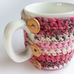 Fair Isle Effect Crochet Mug Cosy