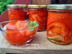 Papryka pieczona, bez skórki z zalewie octowej - Swojskie jedzonko Cantaloupe, Salsa, Jar, Fruit, Food, Youtube, Essen, Salsa Music, Meals