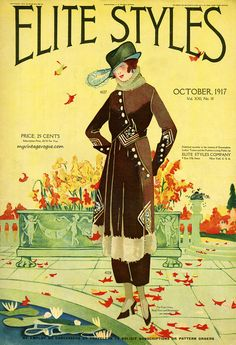myvintagevogue:  Elite Styles October 1917