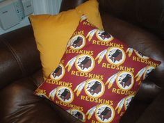 #Redskins pillows for the home.
