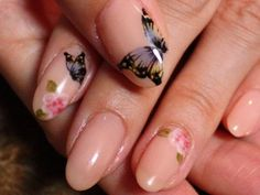 Japanese Nail Art Manicure (Butterflies & Flowers)