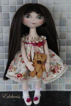 Купить Текстильная кукла ручной работы - кукла ручной работы, кукла в подарок, кукла интерьерная