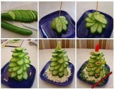 kerstboompje van komkommer
