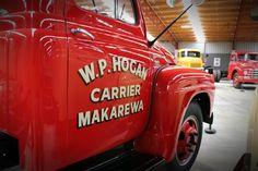 1955 International truck at Bill Richardson Transport World, Invercargill. For more info visit transportworld. Bill Richardson, Vintage Trucks, Antique Cars, Transportation, Vintage Cars