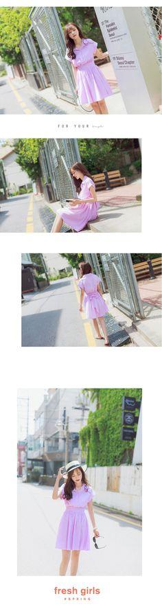 2016夏装新款韩版甜美女装学院风学生收腰修身可爱短袖条纹连衣裙-淘宝网