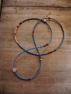 Cythera  gemstone seed bead necklace by FlotsamTide on Etsy, $28.00