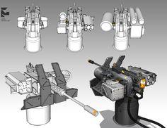 ArtStation - weapon, buffy wang Sci Fi Weapons, Weapons Guns, Military Weapons, Fantasy Weapons, Tower Defense, Arma 3, Gun Turret, Weapon Concept Art, Future Weapons