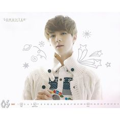 EXO OFFICIAL CALENDAR 2013 ❤ liked on Polyvore
