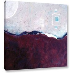 Herb Dickinson Turquoise Mine Gallery-Wrapped Canvas, Size: 36 x 36, Silver