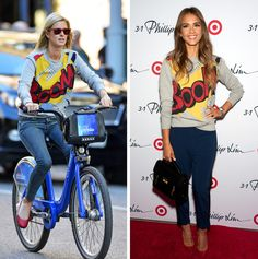 "Nicky Hilton and Jessica Alba spotted wearing a Boom! sweatshirtWhen they wore it: The ""Fantastic Four"" actress hit the launch party for the affordable line during New York Fashion Week on September 5. The hotel heiress took a weekend ride through the Big Apple on a Citi Bike two weeks later.How the"